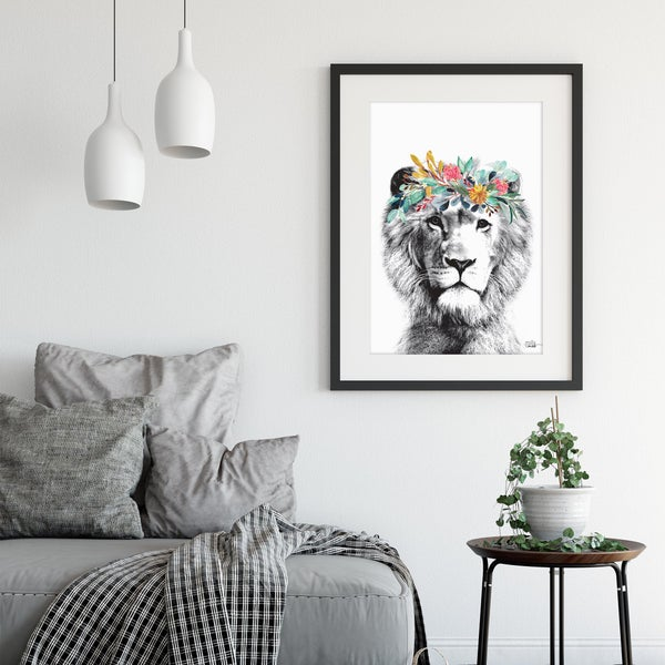 Image of Lion - Art Print