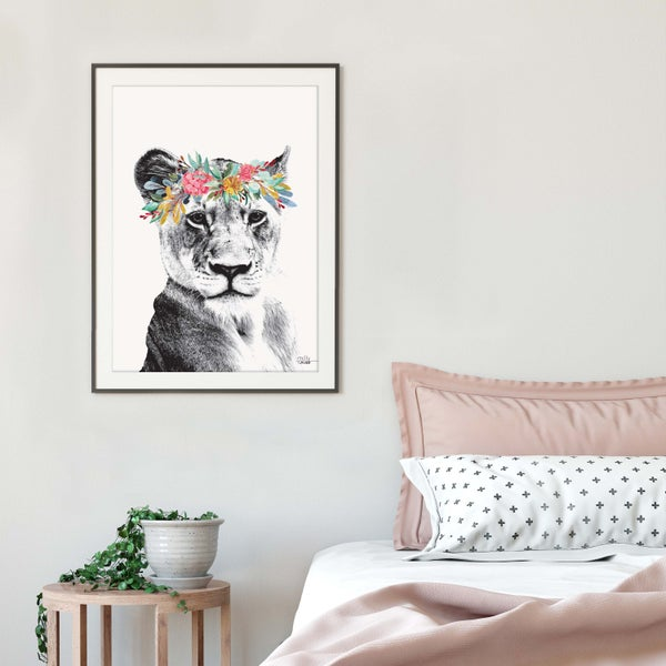 Image of Lioness - Art Print