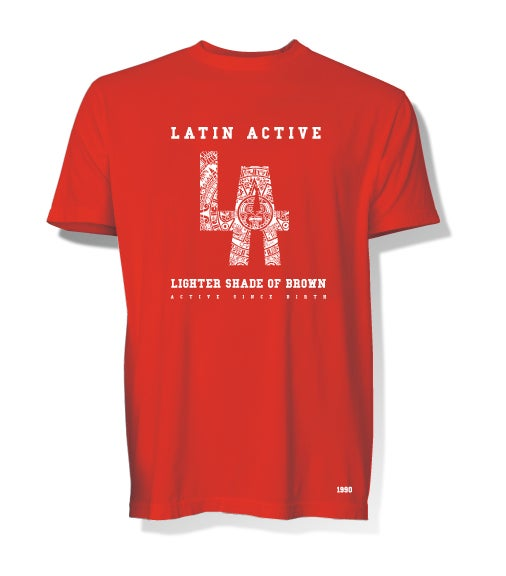 Image of Latin Active tee red
