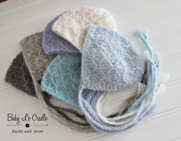Image of RTS - Trellis Bonnet Brushed Alpaca, Newborn - Select Colors Avail.