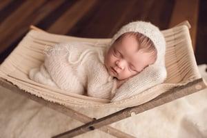 Image of RTS - Trellis Bonnet Brushed Alpaca, Newborn - Select Colors Avail.