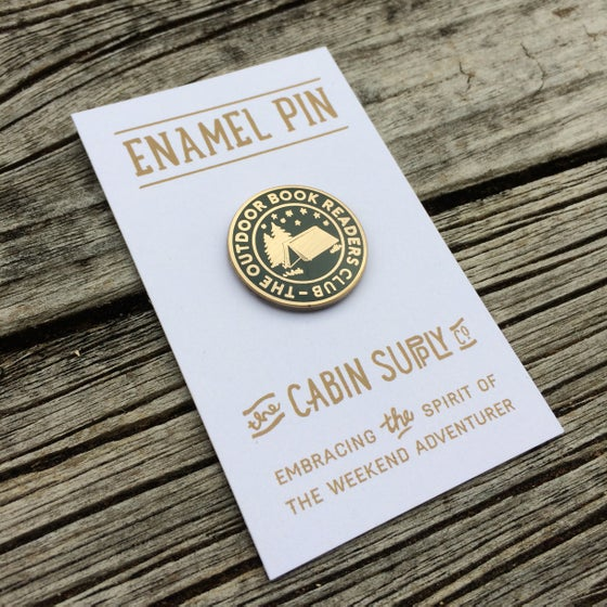 Image of The Outdoor Book Readers Club - Enamel pin