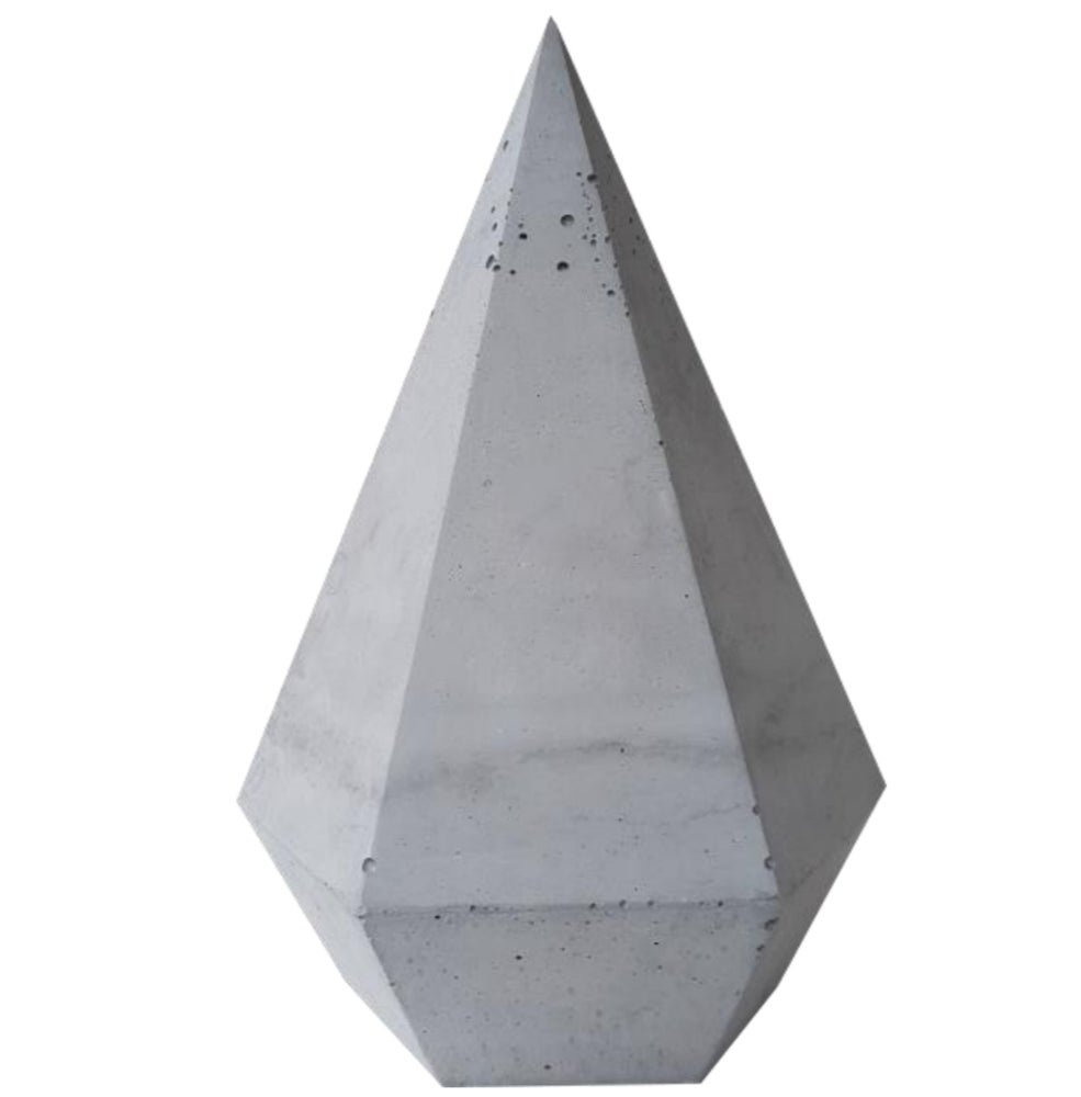 Image of Tall Concrete Diamond - Large