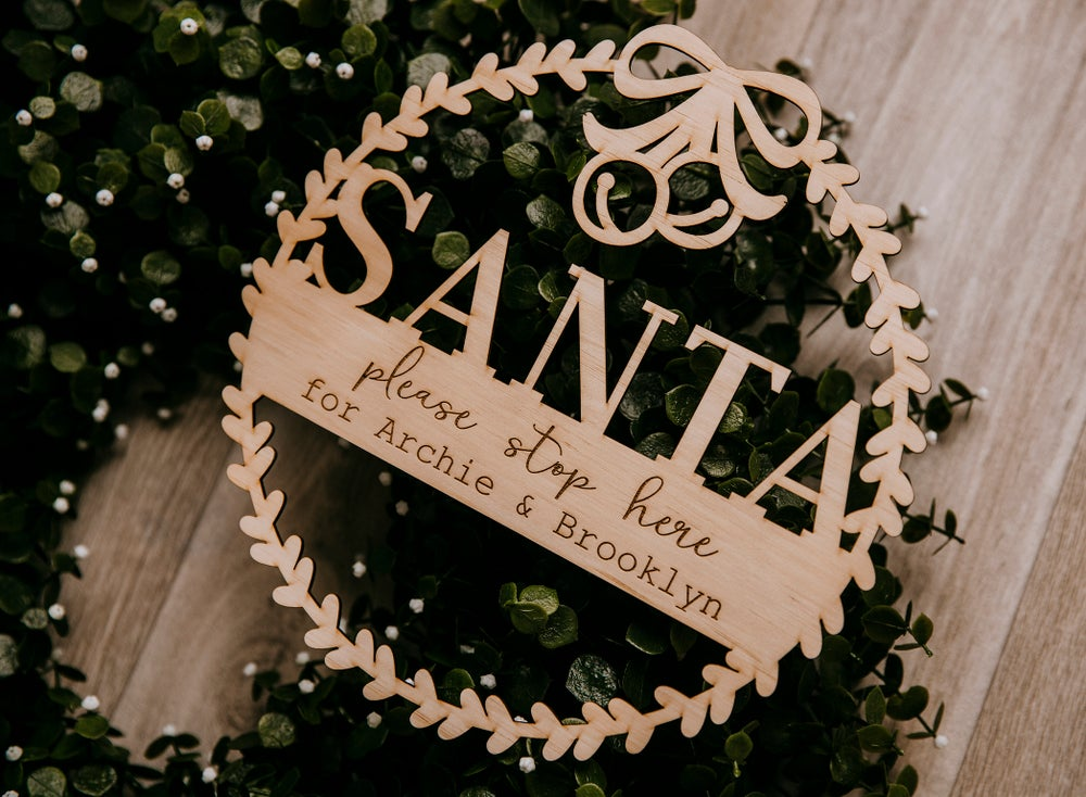 Image of Santa Stop Here Wreath