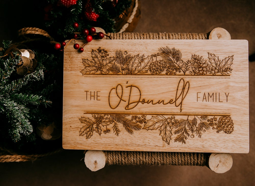 Image of Custom Family Christmas Serving Board