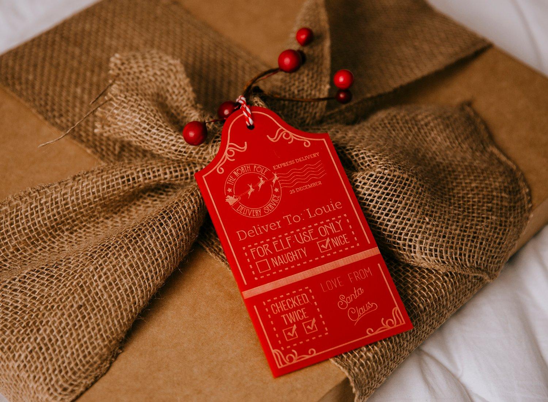 Image of Custom Santa Sack Tag - Red