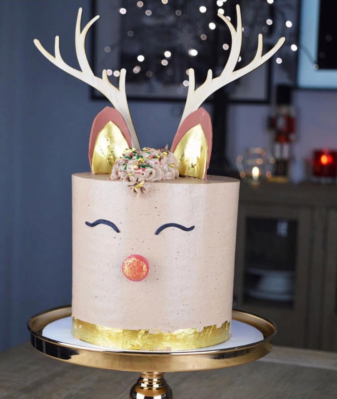 Image of Antler Cake Topper Set