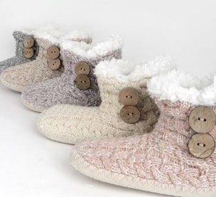 Image of Coziest House Slippers w/Coconut Buttons