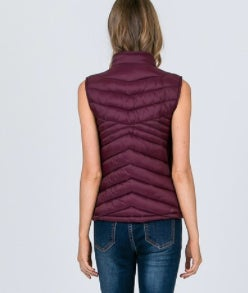 Image of Reversible Vest- Wine