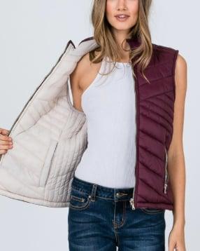 Image of Reversible Vest- Wine