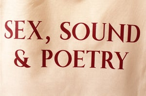 "Image of ""Sex, Sound & Poetry"" Tote Bag - Colour Sand"
