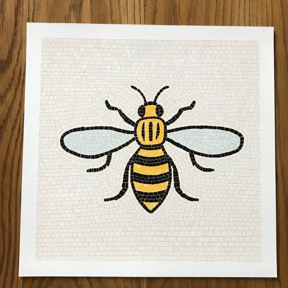Image of MANCHESTER BEE ART PRINT -SQUARE PRINT (UNFRAMED)