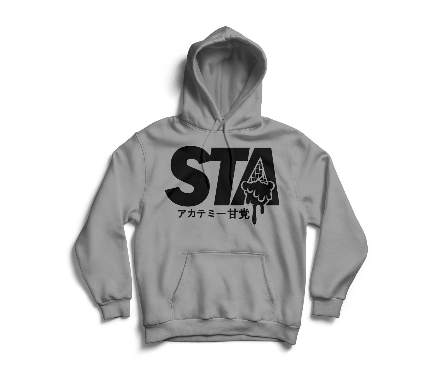 Image of Sta Last Drip Grey Hoody w/ Black