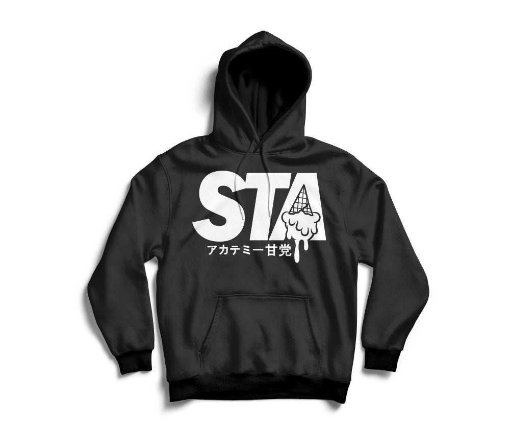 Image of Sta Last Drip Black Hoody w/ White