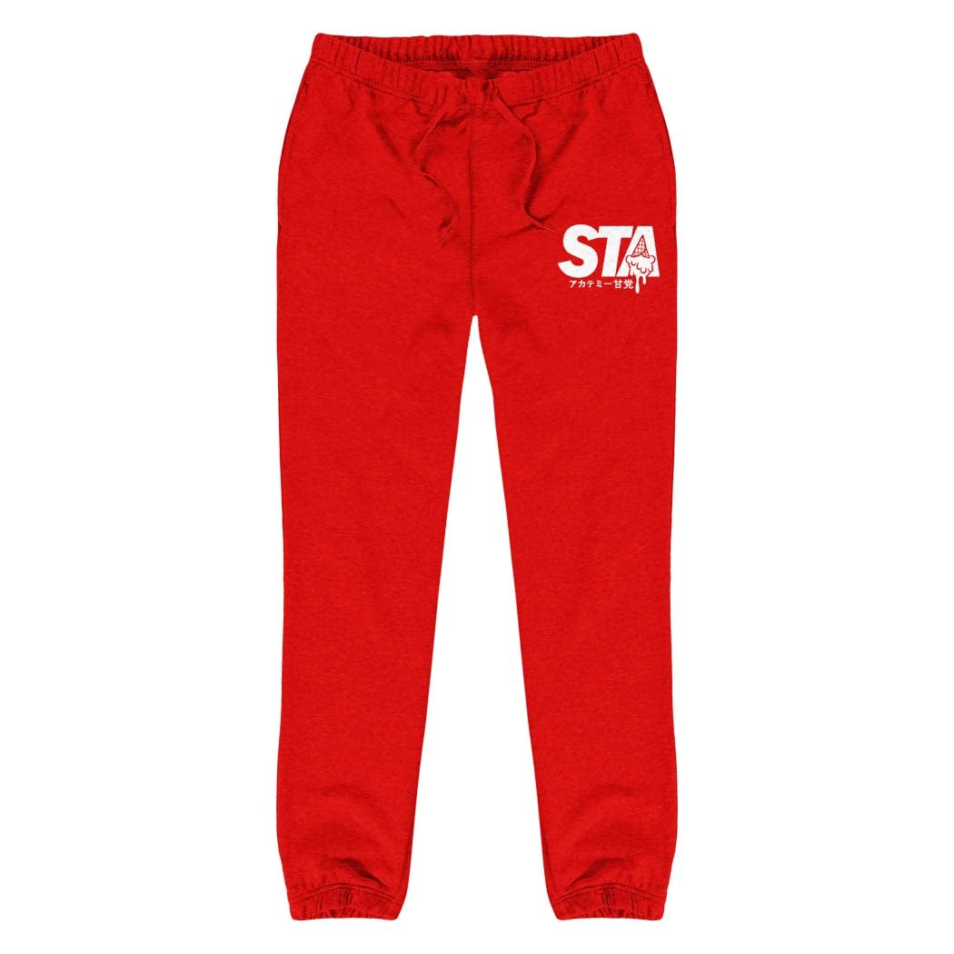 Image of Sta Last Drip Sweatpants Red w/ White