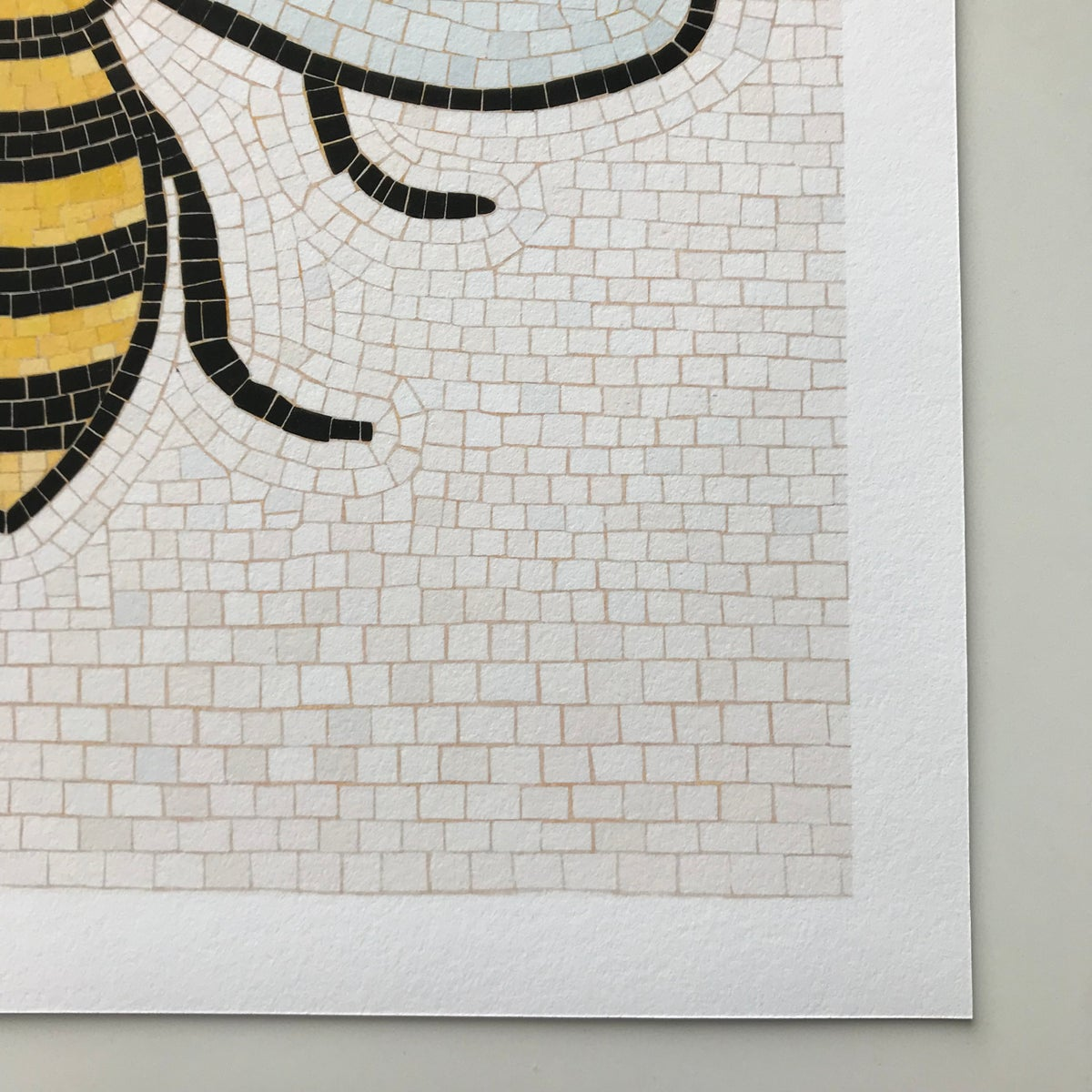 Image of MANCHESTER BEE ART PRINT - RECTANGULAR PRINT (UNFRAMED)