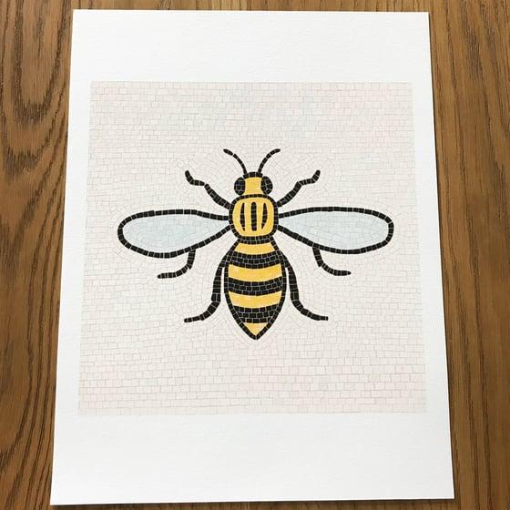 Image of MANCHESTER BEE ART PRINT - RECTANGULAR PRINT (UNFRAMED)