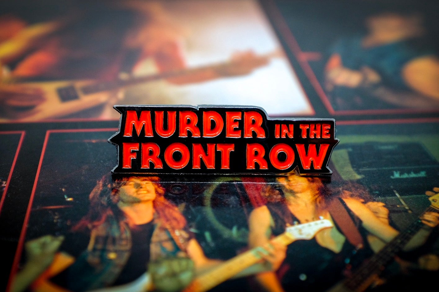 Image of 'Murder in the Front Row' Enamel Pin