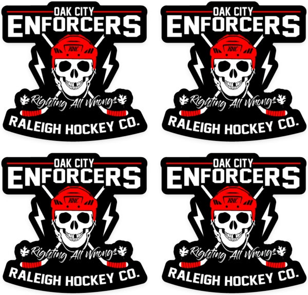 Image of Oak City Enforcers Helmet Sticker - 4 Pack - Free Shipping
