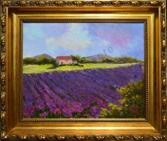 Image of Provence Lavender Field by Mary Rose Holmes
