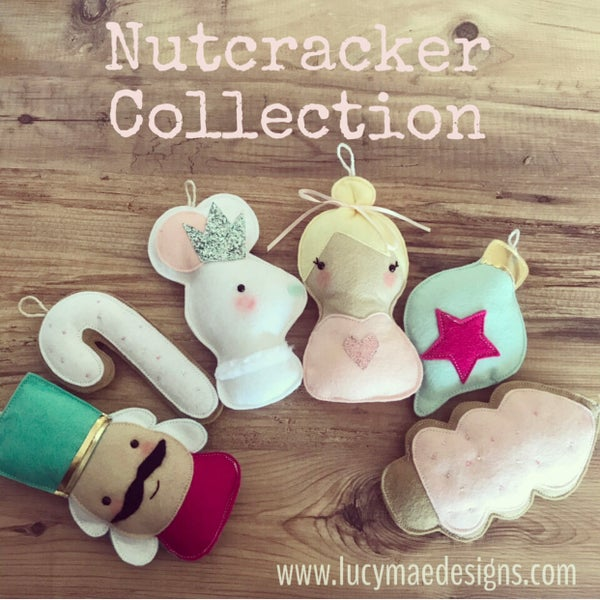 Image of Nutcracker Felt Decorations
