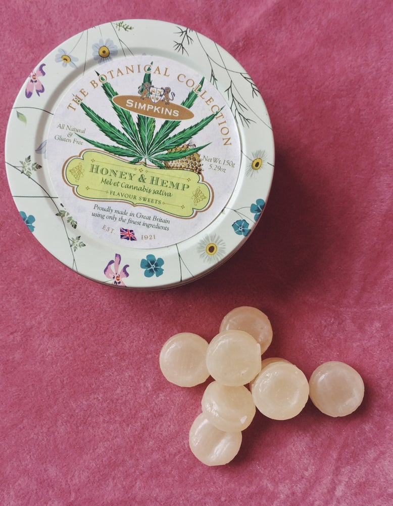 Image of Honey & Hemp Flavour Travel Sweets