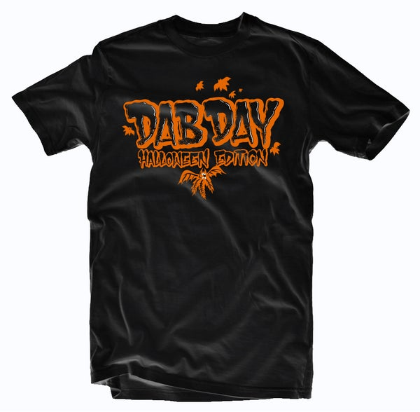 Image of Halloween Edition of Dab Day Limited Tee-ORANGE PRINT