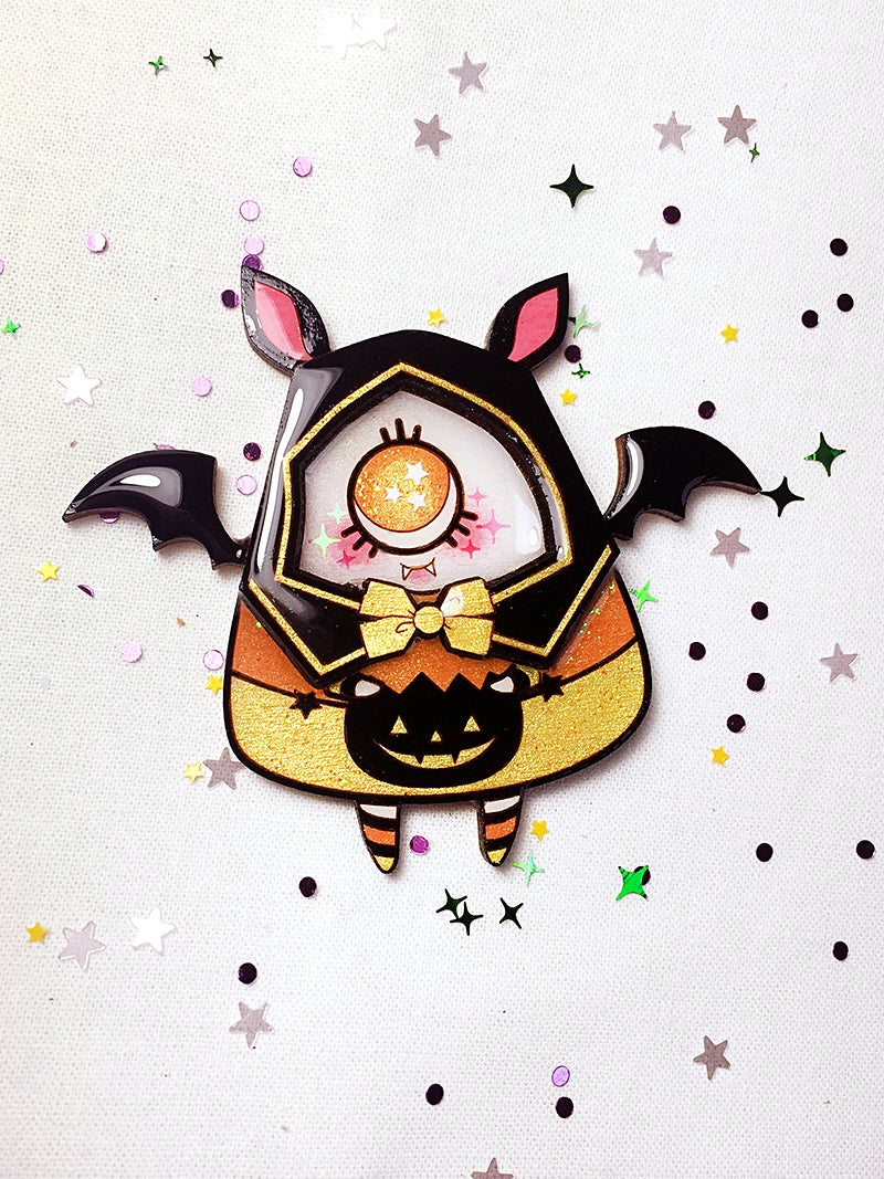 Image of Candy Corn Bat (Traditional)