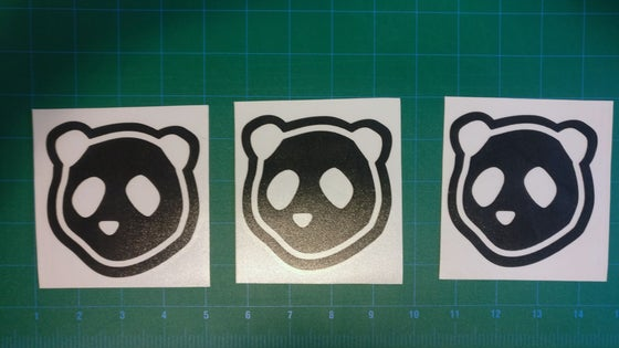 Image of Drunk Panda head stickers