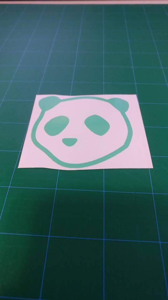 Image of Drunk Panda head stickers