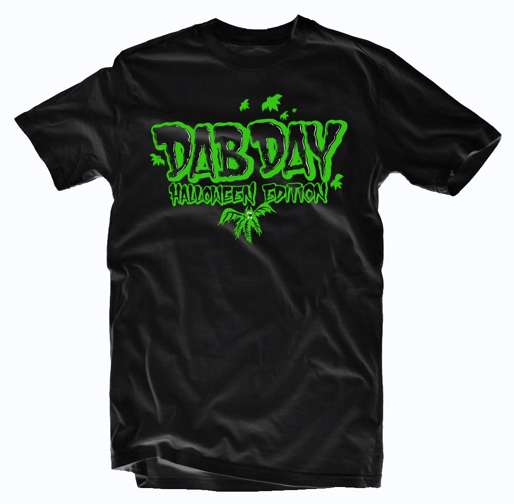 Image of Halloween Edition of Dab Day Limited Tee-GREEN PRINT