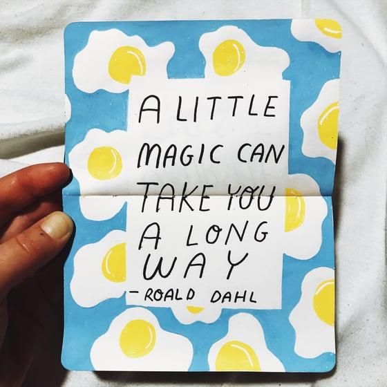 Image of A  little magic A6 postcard print
