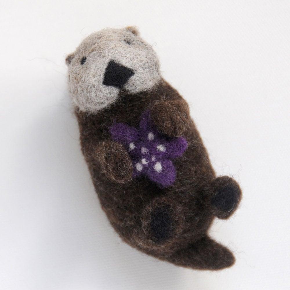 Image of Sea Otter - Needle Felting Kit