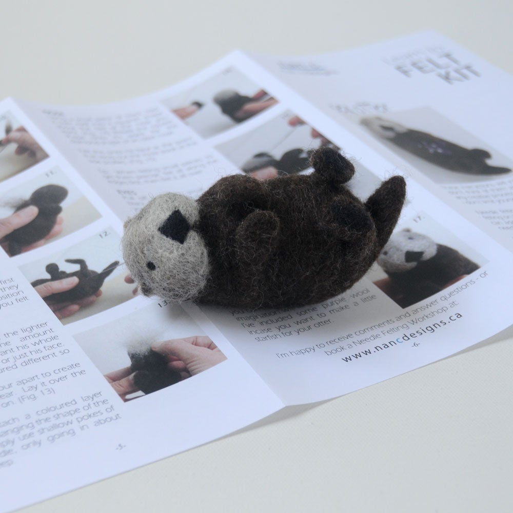 Image of Sea Otter - Needle Felting Kit