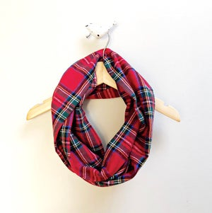 Image of Plaid Infinity Scarf RTS