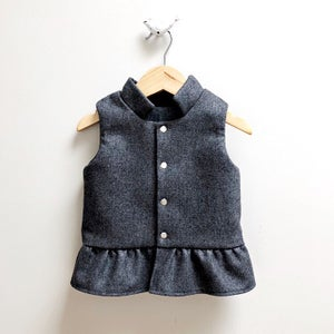 Image of Grey Ruffle Vest