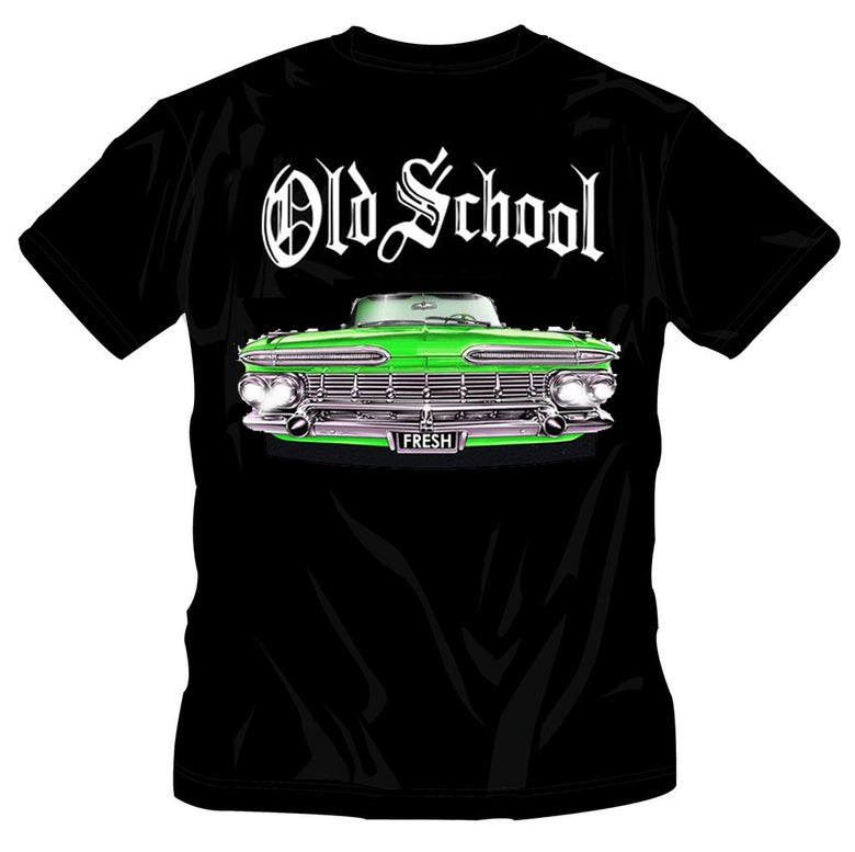 Image of #31 OS GREEN CAR BLACK TSHIRT