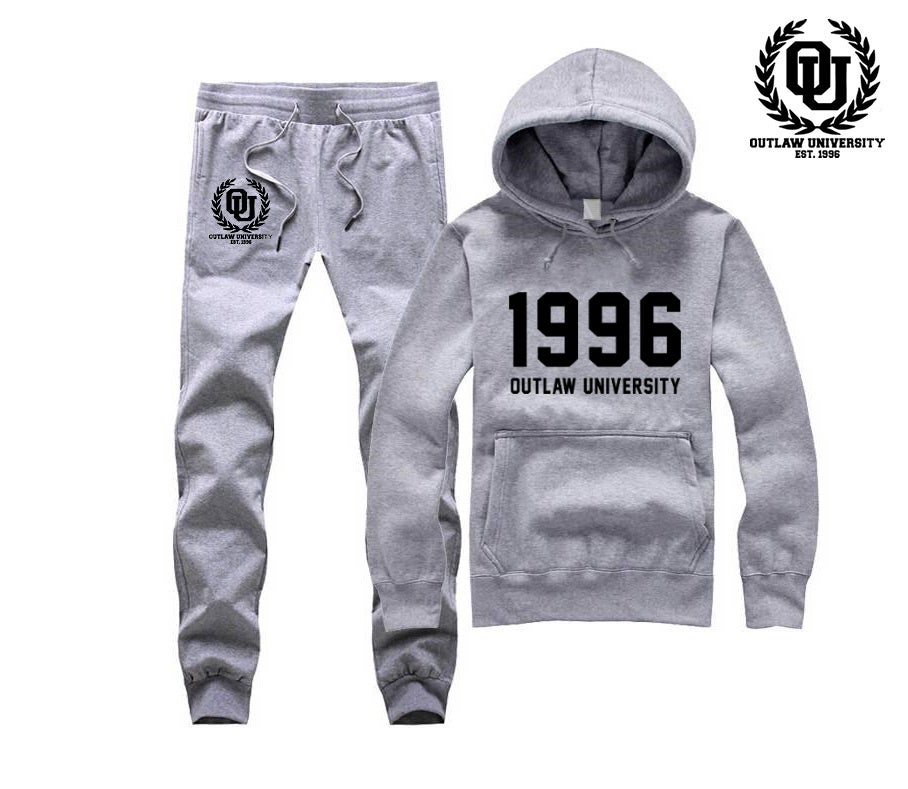 Image of 1996 Unisex Sweatsuit - Comes in Black, Grey, Navy Blue, Red