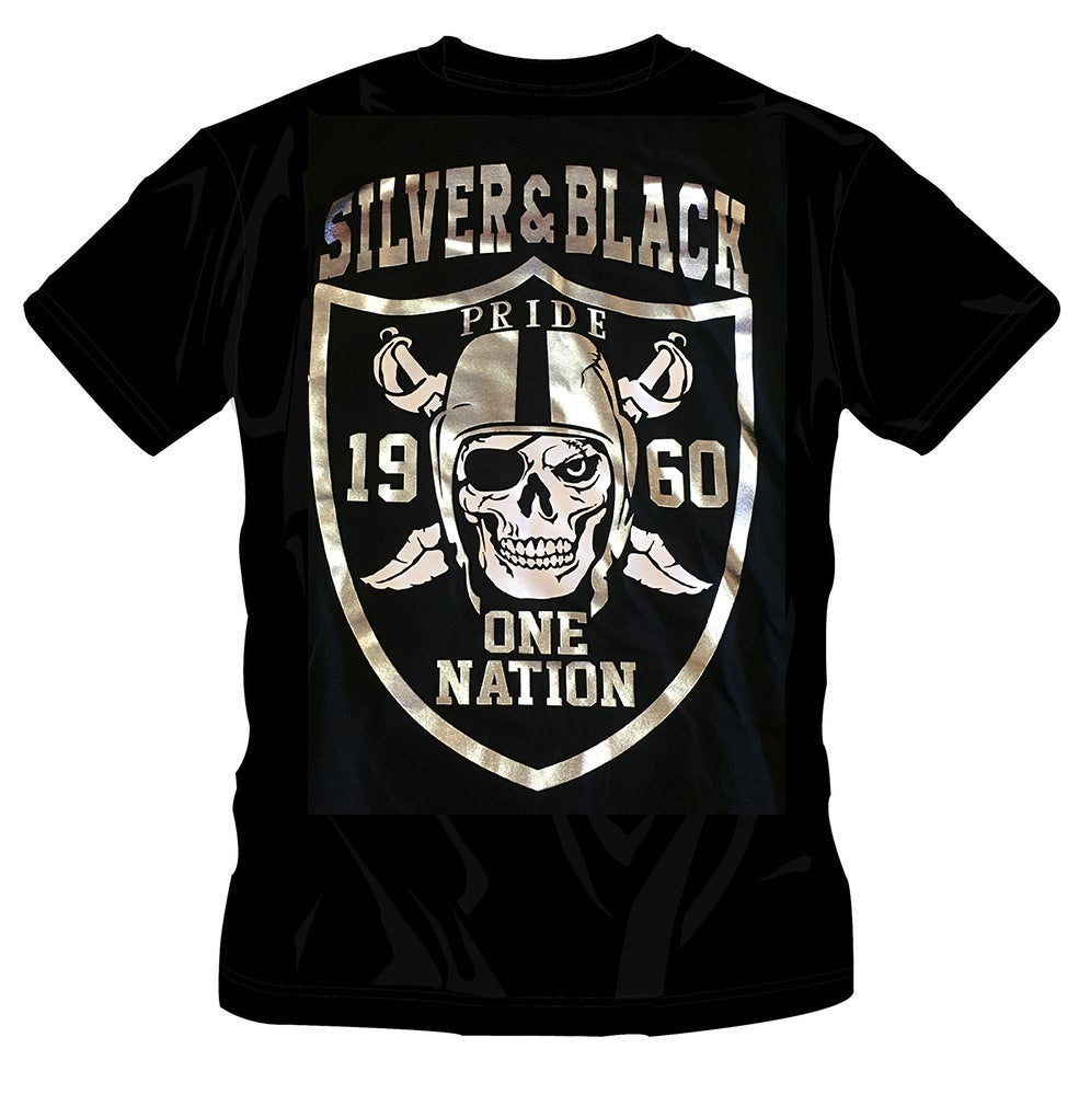 Image of #18 SILVER BLACK PRIDE TSHIRT