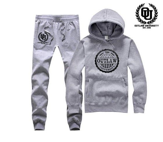 Image of OU Stamp Unisex Sweatsuit - Comes in Black, Grey, Navy Blue,