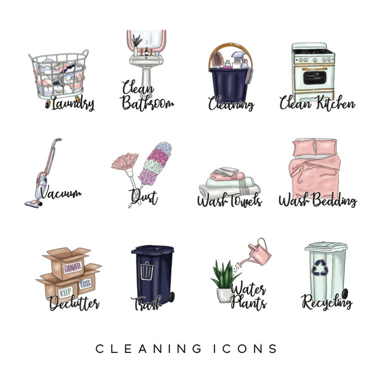 Image of Cleaning Planner Icons