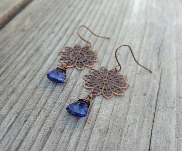 Image of Copper with Tanzanite Hydro Quartz