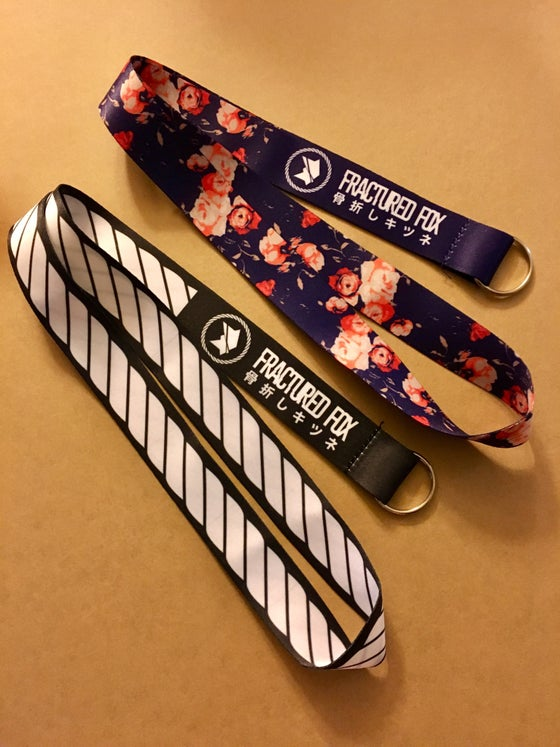 Image of Fractured Fox full print lanyard