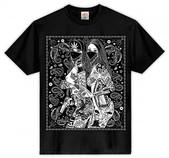 Image of #84 TWO TATTOO GIRLS TSHIRT