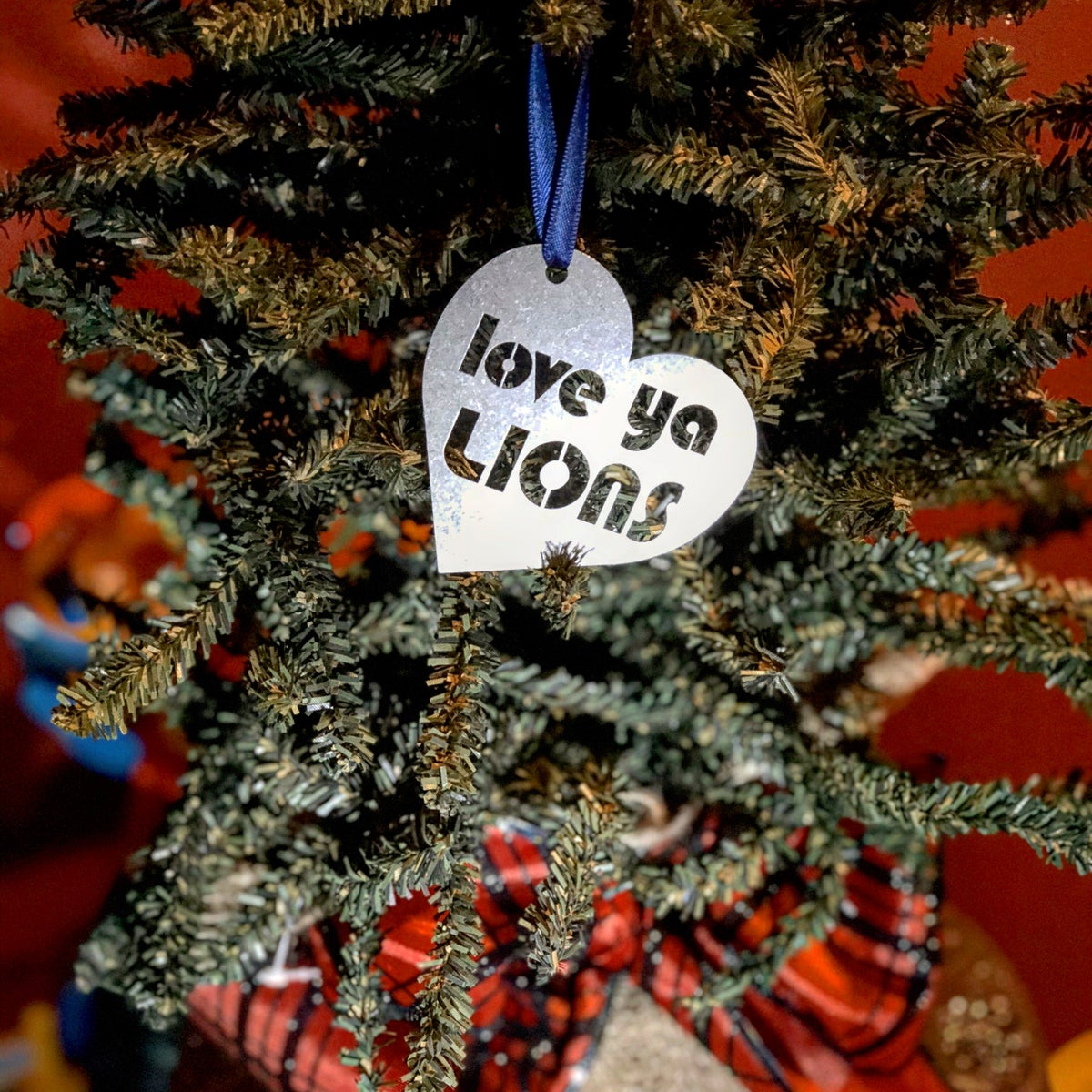 Image of Love Ya Lions Heart Ornament