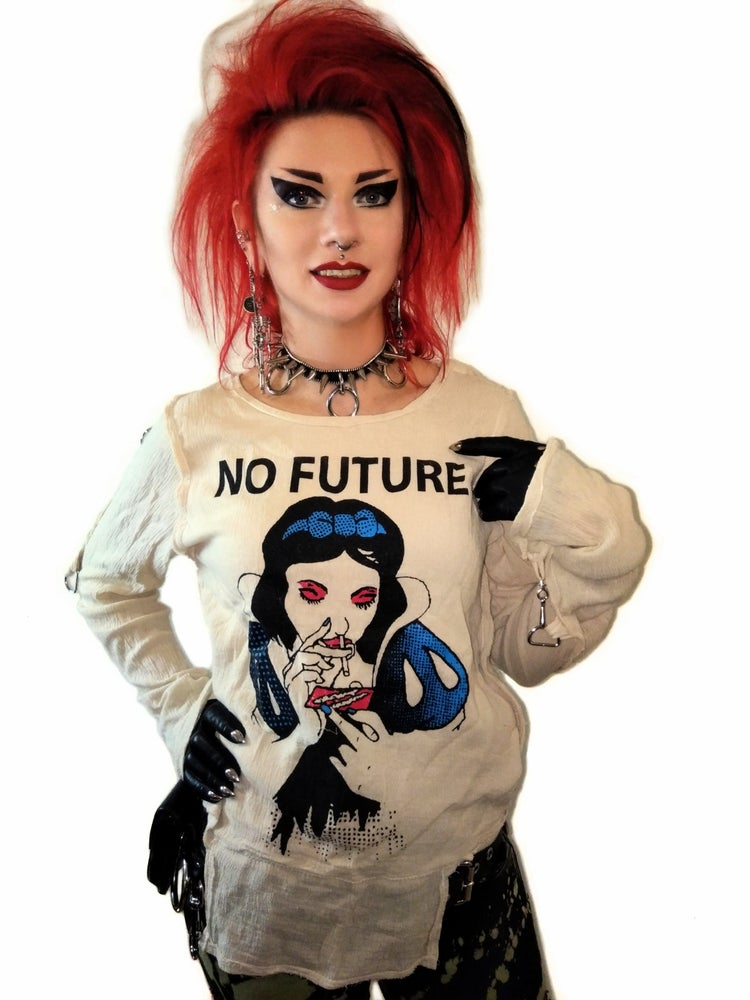 Image of No Future Snow White bondage shirt