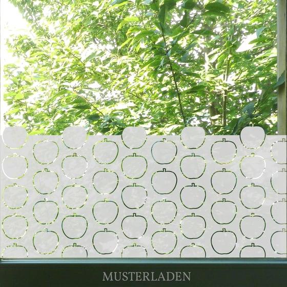 Image of dekorative Fensterfolie mit Äpfeln