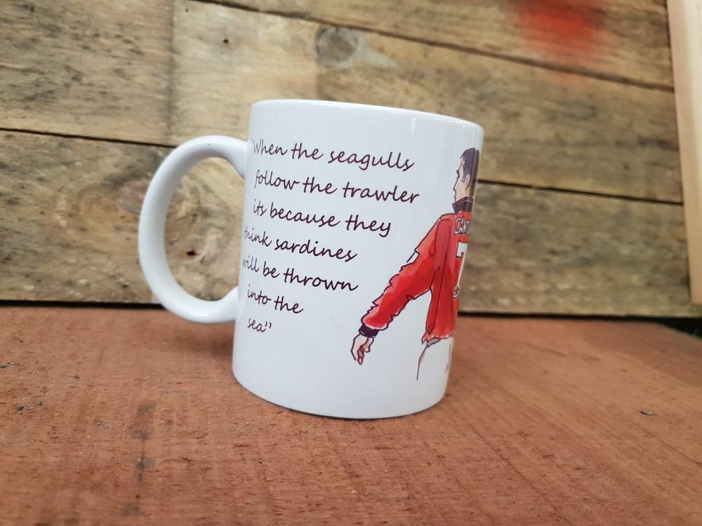 Image of Cantona.. seagulls quote mug