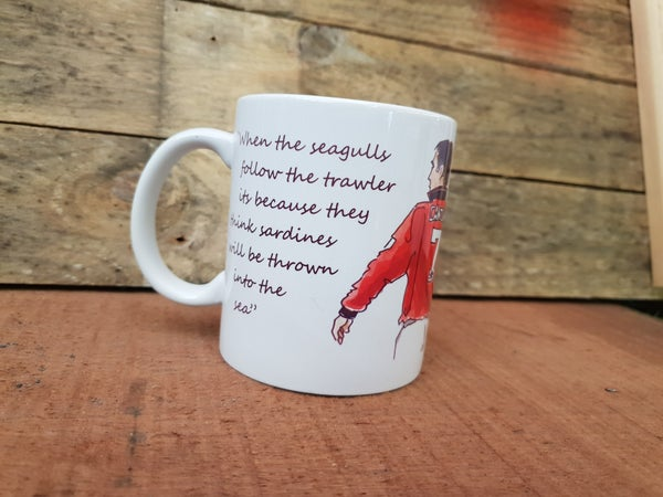 Image of Cantona.. seagulls quote mug