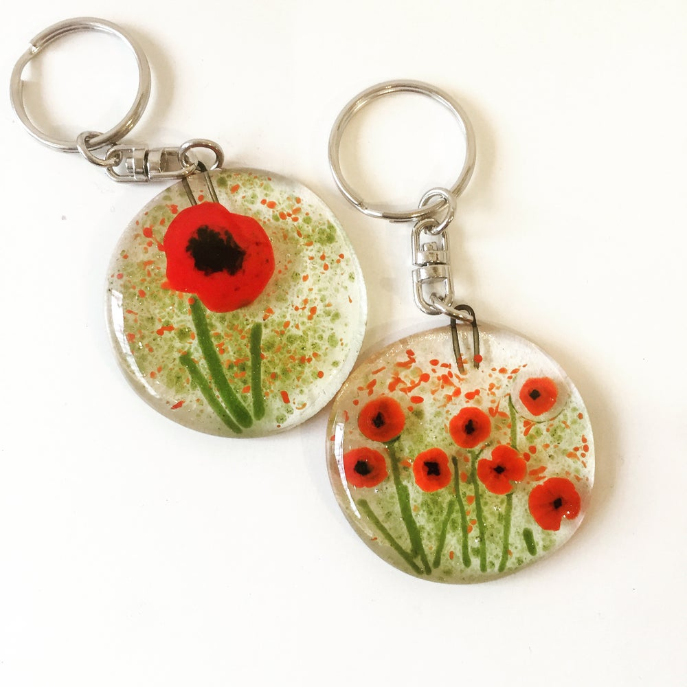 Image of Poppy Key rings